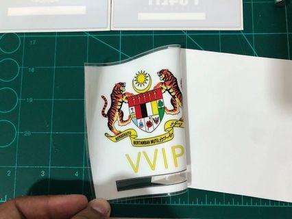 Roadtax sticker material for windscreen