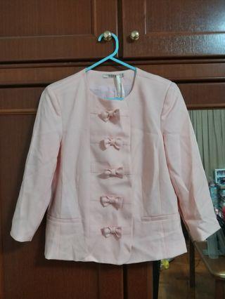 New w Tag Nikkie London Pastel Pink Blazer