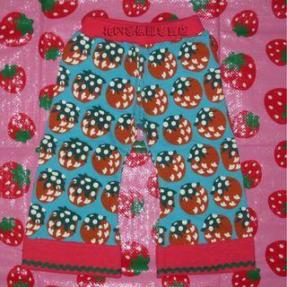 清倉價--日單 mil de berry 大草莓濶腳喇叭褲 size 80