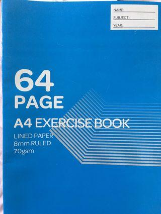 🚚 A4 64-pages notebooks