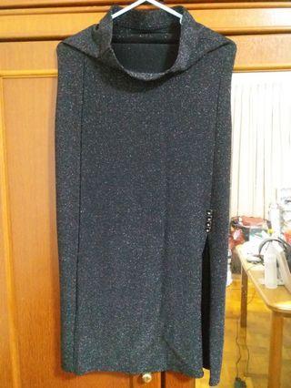 New Black Glitter Electric Skirt