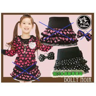 清倉價--日單潮女黑白圓點裙 連蝴蝶結橡筋 可雙面穿 size 95