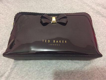 Ted Baker 黑色花邊化妝袋 (大)