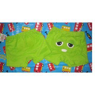 清倉價--日本人氣卡通 Gachapin x Mukku 紅綠小鬼毛巾短褲