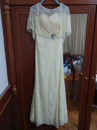 New Crystal Ivory Evening Gown mermaid Dress