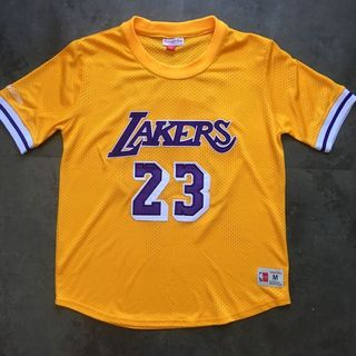 885f702e564 LeBron James short-sleeved LA Lakers NBA jersey
