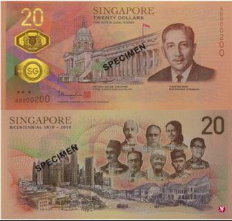 $20 note to commemorate singapore bicentennial