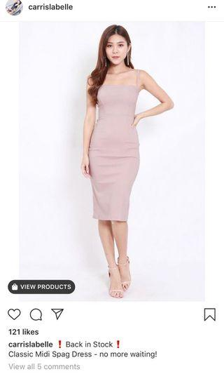 Classic midi spag dress (not selling atm)