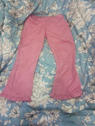 Pink pants bottom frill