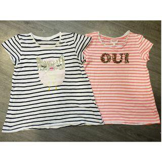 2 x SEED Girl's T-Shirts - Size 5-6YRS