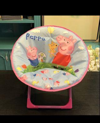 Children Foldable Moon Chair - Pink Peppa Pig