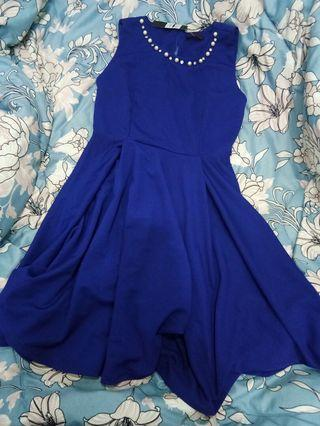Cavalier pearl and diamond blue a line dress