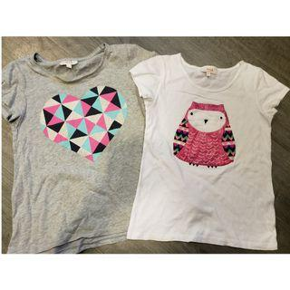 2 x SEED Girl's T-shirts - Size 6-7YRS