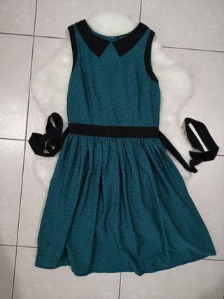 Dorothy Perkins size uk8 cute green dress #MGAG101