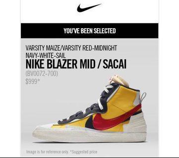 Nike Blazer Mid/Sacai