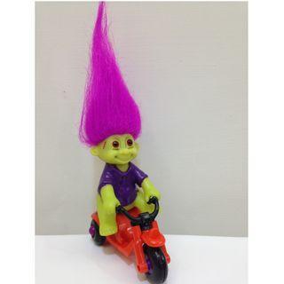 [稀有品] 幸運小子(騎車的科學怪人娃)醜娃、巨魔娃娃、醜妞、Troll Doll、魔髪精靈、魔法精靈、萬聖節、迴力車