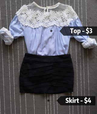 🚚 Blouse & skirt with shorts