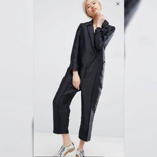 【現貨在台】英國ASOS WHITE 西裝式長袖連身長褲 / UK10