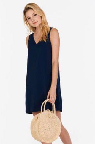 tcl claude two way dress in navy