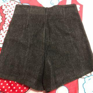 dark grey velvet highwaist