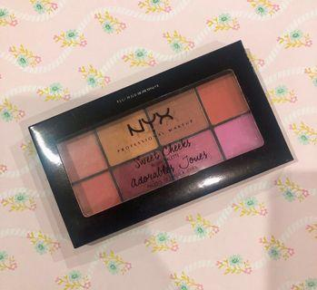 NYX Sweet Cheeks Blush Palette - Adorables Joues