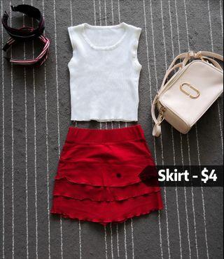 Skirt with pants