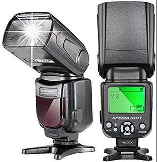 eewer NW-561 LCD Display Speedlite Flash for Canon & Nikon DSLR Cameras,Such as Canon EOS 1100D 550D,5D Mark II III and Nikon D7200 D7100 D7000 and Other DSLR Cameras with Standard Hot Shoe