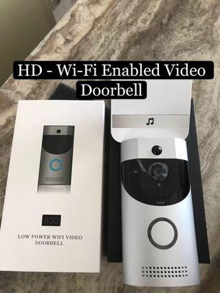 🚚 Video Doorbell, Awakingdemi Waterproof Smart Doorbell 720P HD WiFi Security Camera, Real-Time Two-Way Talk and Video, Night Vision, PIR Motion Detection and App Control for iOS, Android