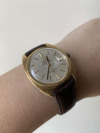 Vintage 14k plated gold & SS OMEGA CONSTELLATION CHRONOMETER Automatic Watch 1960s Cal 564