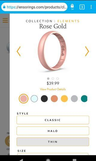 Rose-gold silicon ring