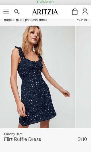 ISO: Aritzia Sunday best flirt ruffle dress
