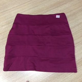 40. Bandage skirt marron