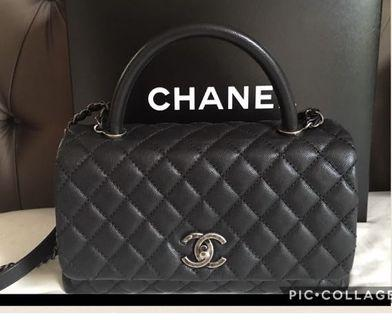 🚚 Chanel Coco handle Black Caviar  SHE