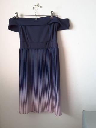 Ombre pleated dress