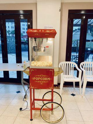 Popcorn and cotton candy live station for events and birthday party
