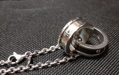 🚚 小惡魔雙戒純銀項鍊