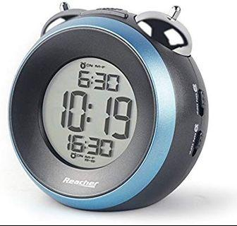 [HG359] REACHER Twin Bell Alarm Clock with Dual Alarm, Optional Weekday Alarm, Snooze, Backlight, Battery Operated