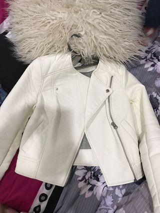 Size 8 top shop leather jacket