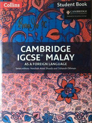 Collins Cambridge IGCSE Malay as Foreign Language Student Book.