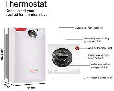 Thermomate UT10 Electric Water Heater, 10 litres 2kW Unvented Under Sink Storage Water Heater for Kitchen Bathroom