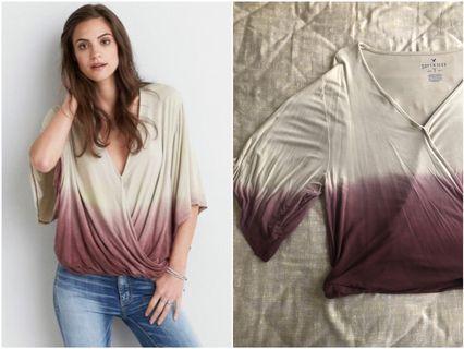 🚚 Brand New American Eagle Kimono Style TOP Ombre