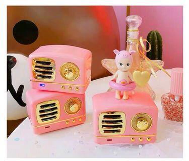 🚚 Bluetooth speaker cute pinky Korean style birthday gift presents