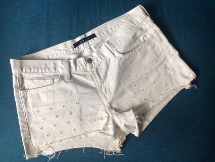 J Brand White Denim Shorts 白色牛仔短褲