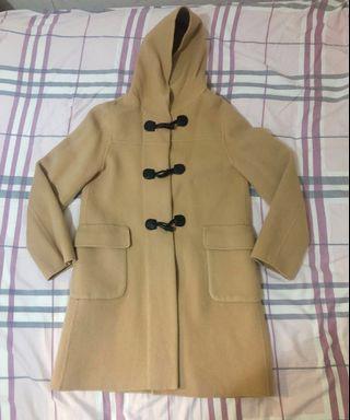 NAFNAF Long Duffle Coat (Khaki/Beige) 長版牛角帽大褸