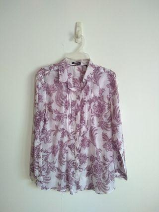 Massimo Dutti Floral Shirt Size 40