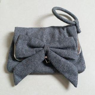French Connection wool clutch bag
