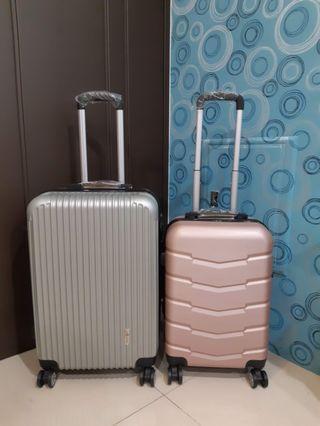 免運費 貨到在付 全新行李箱  24銀灰色/1000 20玫瑰金/900  物品在高雄所以只能宅配唷