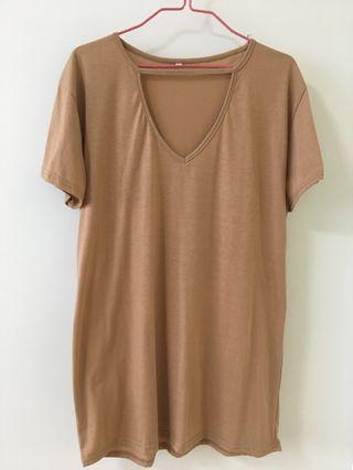 khaki oversized top