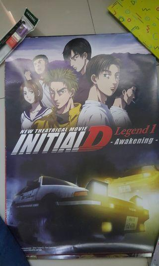 Limited Edition Initial D Movie Poster
