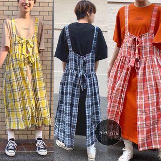 日本RAS連身裙+格仔長背心